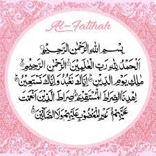 Surat Al Fatihah Serta Nama Nama Lain Yang Mencerminkan