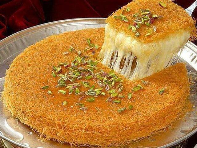 Kunafa Dessert Manis Berserabut Dari Syam Umroh Com